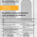 Programm Mastersymposium