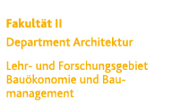 Architektur | Baumanagement und Bauökonomie